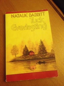 My childhood copy of Tuck Everlasting.