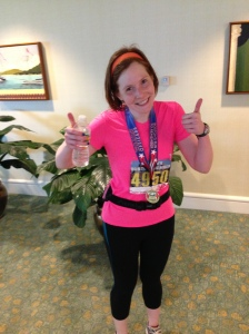 Me after the run. Woohoo!
