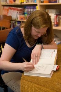 Tara signs books (eeee, author signings!)