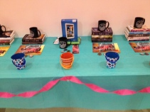 The raffle table, filled with bookish goodness.