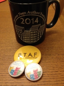 Buttons and mugs, my favorite forms of swag.