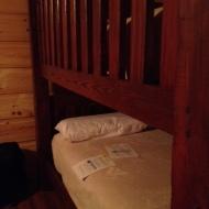 I had the top bunk, which felt weirdly like a giant crib.
